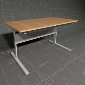 Ikea Fredrik Desk wood effect Top, Silver Frame - USED Perfect Working Order