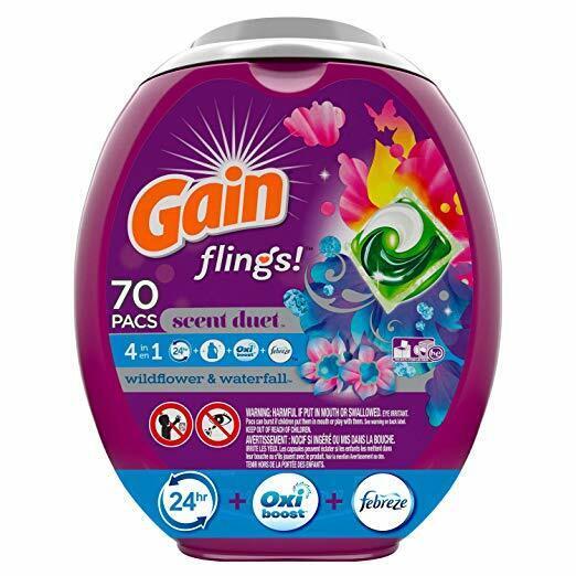 Gain flings! Laundry Detergent Pacs, Wildflower & Waterfall,