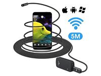 WiFi Inspection Camera 16ft/5m Wireless Endoscope/Borescope HD Flexible, Waterproof Android & IOS