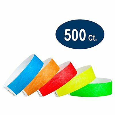 "100 Solid Tan Consecutive 3//4/"" Tyvek Wristbands"