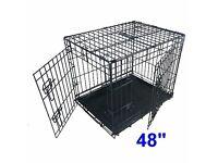 "Ellie-Bo 48"" Black 2-Door Dog Crate For Sale - Barely Used"