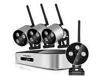 Wireless 4CH 1080P NVR Security Cameras WEATHER PROOF Night Vision