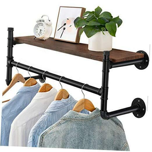 Industrial Pipe Clothes Rack, Heavy Duty 44
