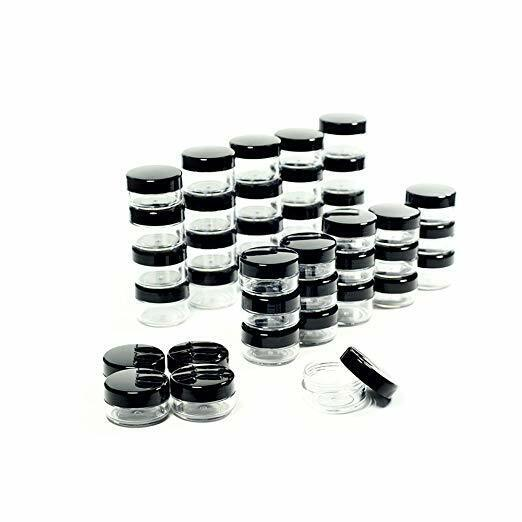 50 Pcs 5 Grams Cosmetic Empty Sample Small Containers Jar Makeup Lip Balm 5ml US Health & Beauty