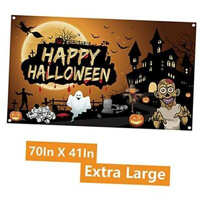 Halloween Banner Extra Large Fabric 70In X 41In Halloween Backdrop Banner Pumpk