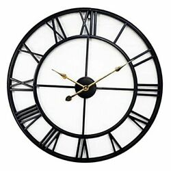 24 inch Large Metal Wall Clock Industrial Decorative Clocks for Living Room,