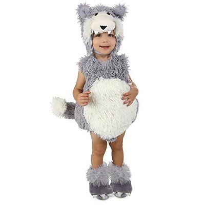 Vintage Beau Big Bad Wolf Child Infant,Toddler Dress Up Halloween Deluxe Costume (Wolf Halloween Costume Toddler)