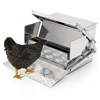 Automatic Chicken Feeder - Sturdy Galvanized Steel Poultry Feeders With Weatherp