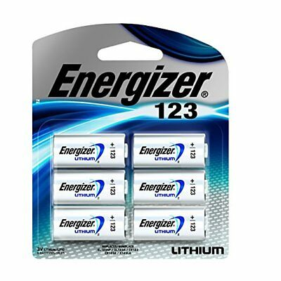 New Energizer Photo Battery 123 Lithium 6 Pack