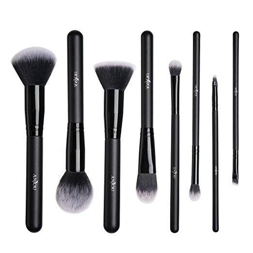 Makeup Brushes Set, Anjou 8 Pieces Synthetic Makeup Brushes