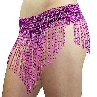 Stretchy Beaded Belt Belly Dance Elastic Waist Hip Shakers Halloween Costume