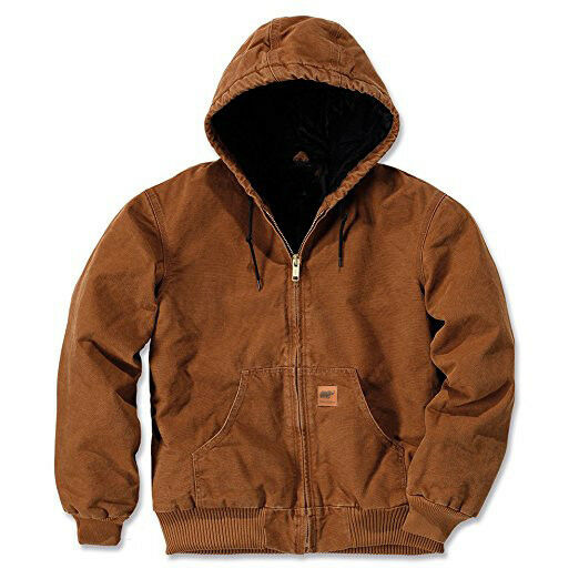 Men Sandstone Canvas Quilted Thermal Lined Active Coat Industrial Winter Jacket