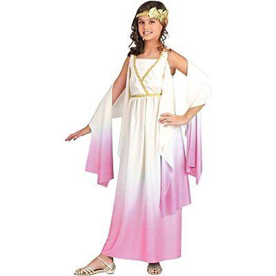 Fun World Athene Pink Griechische Göttin Kleid Kinder Mädchen Halloween Kostüm