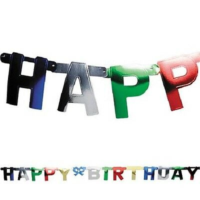 Multi-Color Happy Birthday Letter Banner 7 Ft long Letters are 6 1/4