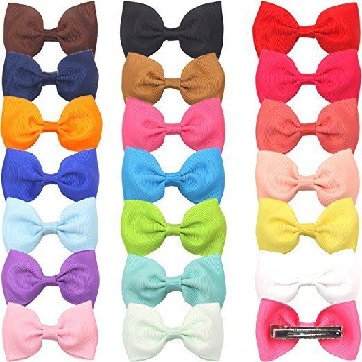 Baby Girl Hair Accessories Hair Bow Clips Pinwheel hairbows for Toddlers 20pcs