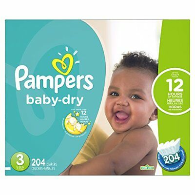 ***NEW*** Pampers Baby Dry Diapers Size 3, 204 Count ***FREE SHIPPING***