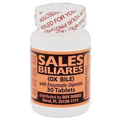 Sales Biliares  Ox Bile  With Enzymatic Digestan 30 Tablets
