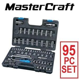 NEW 95PC MASTERCRAFT SOCKET SET SOCKET  TOOL SET TOOLS POWER TOOLS 110807722