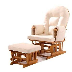 Glider TV-Sessel/Stillstuhl in der Farbe Eiche/Creme