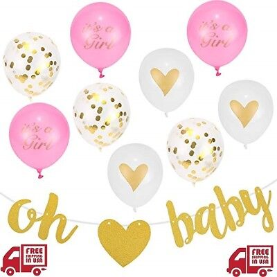Baby Girl Shower Party Decorations Baby Shower Décor For Girls Printed Balloons](Baby Shower Balloons For Girls)