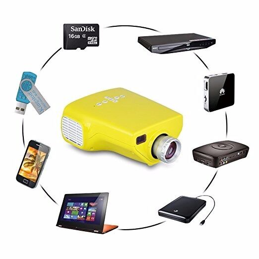 Excelvan E03 Mini High Resolution, Home Office Projector LED LCD USB/VGA/HDF, 1092*1080 HD 1080P