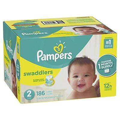Pampers Swaddlers Disposable Baby Diapers Size 2, 186 Count