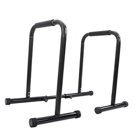 Dip Station Functional Heavy Duty Dip Stands Fitness Workout Dip bar black