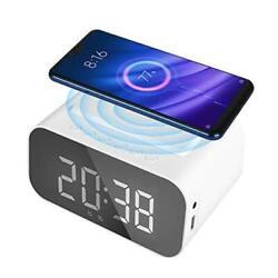 Alarm Clock Bluetooth Speaker, Wireless Charging Digital Alarm Clock, Smart