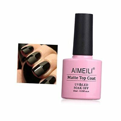 AIMEILI Soak Off UV LED Gel Nail Polish - No Wipe Matte Top
