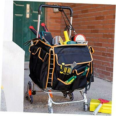 2021 Update Foldable Jumbo Shopping Large Cart With Black Multifunctional Bag