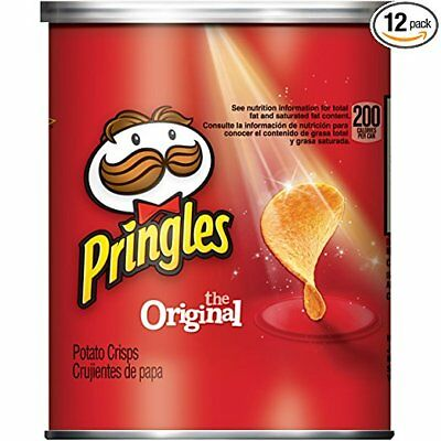 Pringles Original Small Stacks Potato Crisp Chips, 1.3 Ounce (Pack of 12)