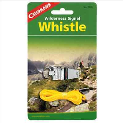 Coghlans Nickel Plated Camp Whistle, With Lanyard 7735 (Coghlans Camping Whistle)