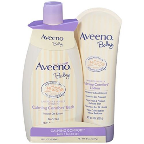 Aveeno Baby Calming Comfort Bath + Lotion Set, Baby Skin Care Products