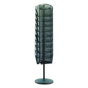 New Open Box Safco Onyx Rotating Mesh Magazine Stand