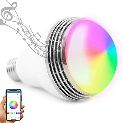 LED Light Bulb with Smart Bluetooth Speaker and Control RGB Multi Color Changing