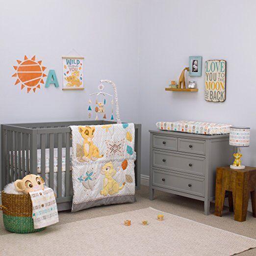 3pc Disney Baby Crib Bedding Lion King Circle of Life Baby C