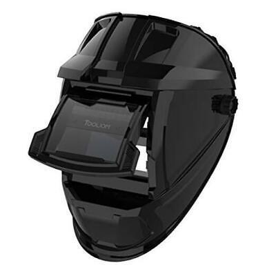 Flip Up Welding Helmet 3.64 X 1.67 Inch Auto Darkening Clamshell Welding Mask T