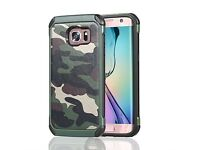 Samsung Galaxy S7 Edge Shockproof, dual layered, Heavy Duty Case in Camouflage Green NEW & SEALED
