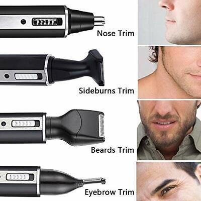 4 in 1 Rechargeable Hair Eyebrow Ear Nose Beard Trimmer Electric Shaver Set USA