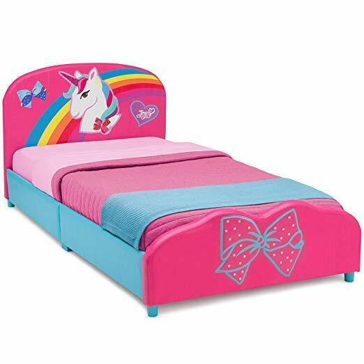 New Delta Children Upholstered Twin Bed, JoJo Siwa For Girls