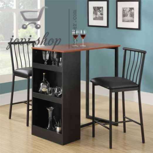 B00hv7z11s dorel living dining set breakfast nook counter for Small dining table with storage