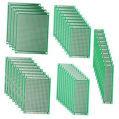 Deyue 40pcs Pcb Double-sided Prototyping Pcbs Circuit Boards Kit 5 Size Univer
