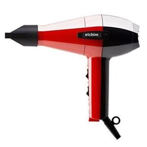 NEW Elchim Classic 2001 Dryer, Red/Black with diffuser
