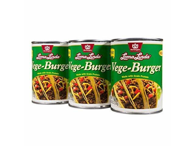 Loma Linda-Plant-Based -Vegan- Low Fat Vege-Burger (19 oz.) - 1, 3, 6, 12
