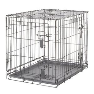 Dog crate with two doors - cage a deux portes pour chien