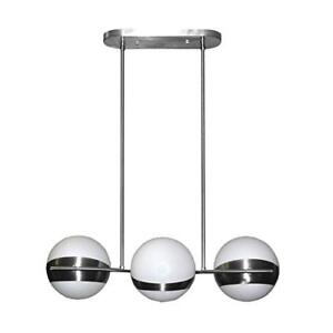 Dainolite Lighting TRIO2-3HP-SC 3-Light Horizontal Pendant, Fro