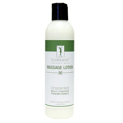 Master Massage Natural Unscented Hypoallergenic Water dispersible Lotion 8 oz
