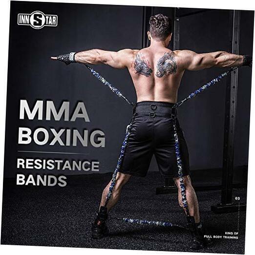 MMA Boxing Training Resistance Belt Band Set Power Punch Pro Strength Training