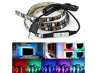 LED Strip Lighting, 4.9ft, 149cm, 50/50, 45LEDs 5V USB