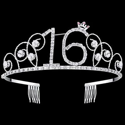 16th Birthday Decorations Party Supplies Sweet 16 Birthday balloons Tiara Crown ()